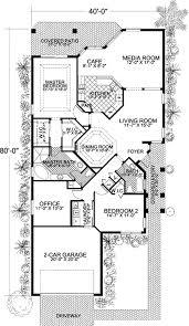 floor plans for narrow lots narrow lot mediterranean home plan 32170aa architectural