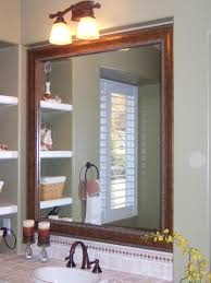 surface mounted cabinet mirror with pivot in between for bathroom