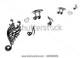 big note wings notes stock vector 166680629