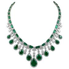 platinum necklace with diamonds images Harry winston emerald and diamond necklace for sale at 1stdibs jpg