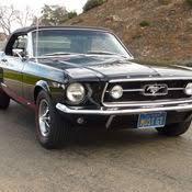 1967 Mustang Black 1967 Ford Mustang Convertible Gt Rare Triple Black 1 Of 82