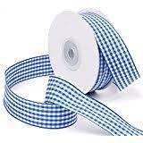 blue gingham ribbon gingham ribbons trim embellishments arts