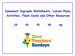 consonant digraphs worksheets lesson plans activities flash