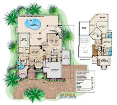 Floor Plan La by La Playa House Plan Mediterranean Floor Plan 4bed 4bath Garage