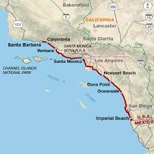 santa barbara california map pacific coast adventure cycling route adventure