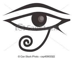 horus eye horus one eye theme vector illustration eps vectors