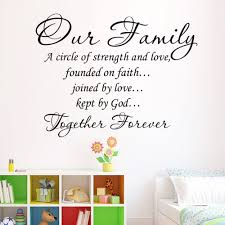 Quote Garden Family Aliexpress Com Buy Our Family Together Forever Quotes Letter