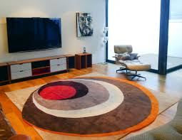 Orange Modern Rug Mid Century Modern Rug Contemporary Modern Area Rugs By Sonya Winner