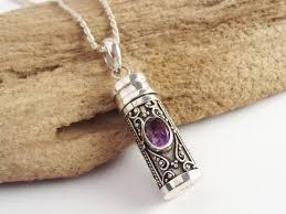 pendants for ashes prayer box necklace amethyst capsule hollow pendant