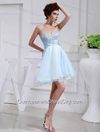a line chiffon aqqliques strapless light blue sweatheart dama