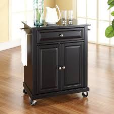 crosley furniture kitchen cart shop crosley furniture black craftsman kitchen cart at lowes com