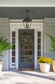 brown color with decorate for summer side porch decorate front