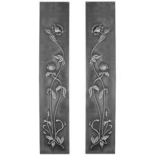 carron pair cast iron fireplace panel inserts hef319
