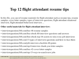 Resume Builder Com Free Top 12 Flight Attendant Resume Tips 1 638 Jpg Cb U003d1427964425
