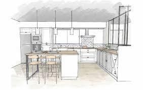 plan de cuisines plan cuisine ilot collection et étourdissant plan de cuisine