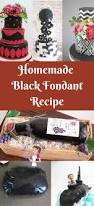 perfect homemade black fondant recipe veena azmanov