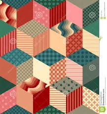 bright seamless patchwork pattern decorative rhombus ornament