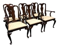 henkel harris mahogany queen anne dining chairs set of 6 chairish