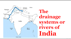 Himalayan Mts Map The Drainage Systems Or Rivers Of India Youtube