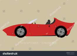 cartoon sports car side view convertible car icon side view car stock vector 724648858