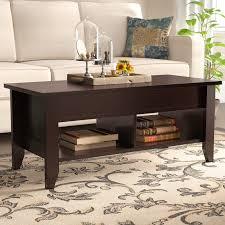 flip top coffee table red barrel studio drayton lift top coffee table reviews wayfair