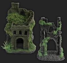 design elements wall ruins and castle arch