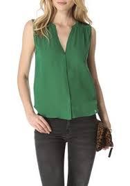 sleeveless blouses green buttons pleated v neck sleeveless chiffon blouse blouses