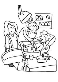 printables colouring dentist dental health coloring pages