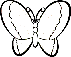 coloring pages for kindergarten pic of butterfly simple in black n white for colouring for