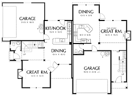 corner lot floor plans duplex with single family appearances 69382am architectural