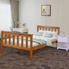 single bed in honey 3ft wooden single bed frame honey goplus