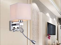 Switched Wall Sconce Modern Wall Sconce With Switch Wall Bed Lamps 2 Pcs 1w Led Reading