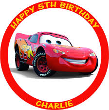 cars cake toppers cars lightning mcqueen personalised edible birthday cake topper