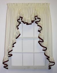 lucy 3 piece country ruffled swags u0026 filler valance window