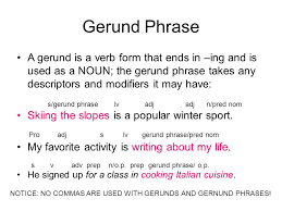 phrase cuisine gerunds participles infinitives write the sentences out