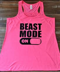 beast mode on tank top workout tank top crossfit shirt funny