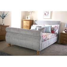 Tufted Sleigh Bed King Upholstered Sleigh Bed King Kensington Eastern California Cal