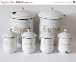 enamel kitchen canisters 178 best vintage canister sets singles images on