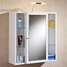 spiegelschr nke f r badezimmer spiegelschrank bad mit beleuchtung und 6 glasfachböden aus mdf
