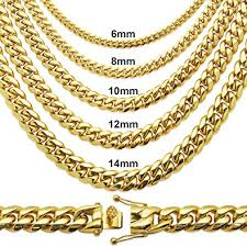 cuban link necklace images Premium 14kt gold plated stainless steel heavy solid miami cuban jpg