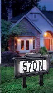 amazon com the black series solar powered lighted address stake