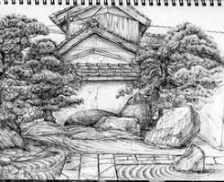 japanese garden pagoda coloring sketch coloring champsbahrain com
