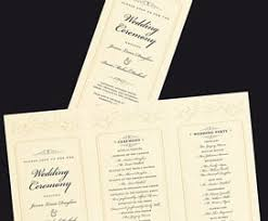 folded wedding program wedding templates