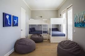 Corner Bunk Beds Bedroom Inspired Giant Bean Bag Bed In Bedroom Beach Style With
