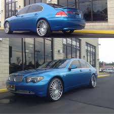 bmw 4 series sitting pretty wrap game serious over here bmw 7 series in 3m gloss blue