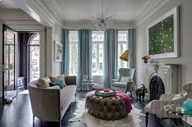 tour a townhouse with eclectic home decor domino