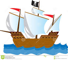 pirate ship stock vector image 52201908