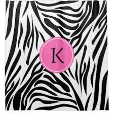 Pink Black And White Shower Curtain Pink Zebra Shower Curtains Zazzle