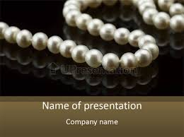 elegant white pearl necklace images Pearl necklace black white elegant reflex image powerpoint jpg