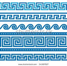collection vector antique border ornaments stock vector